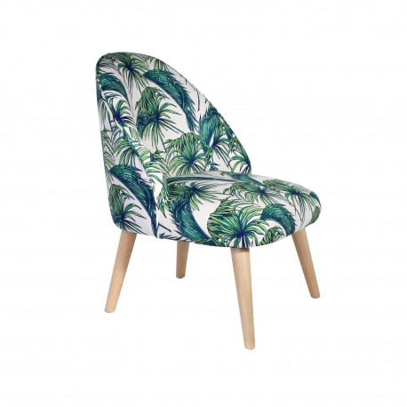 Fauteuil crapaud EXOTICA - Green Jungle