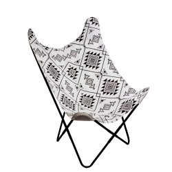 Fauteuil BUTTERFLY - Ethnico Black & White