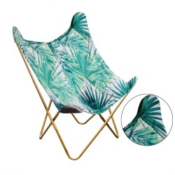 Fauteuil BUTTERFLY - Green jungle