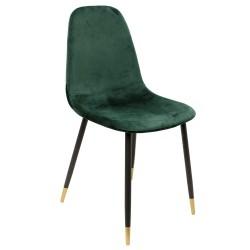 Chaise VUELA -  Velours Vert Emeraude