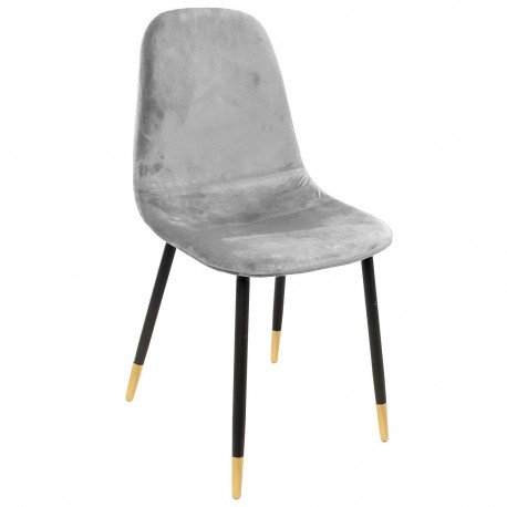 Chaise VUELA -  Velours Gris Souris