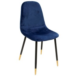 Chaise VUELA - Velours Bleu Navy
