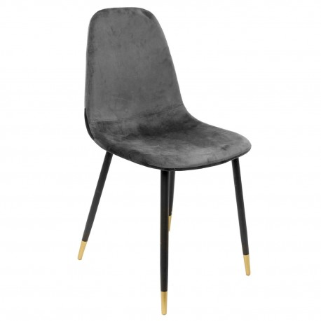 Chaise VUELA -  Velours Gris Anthracite
