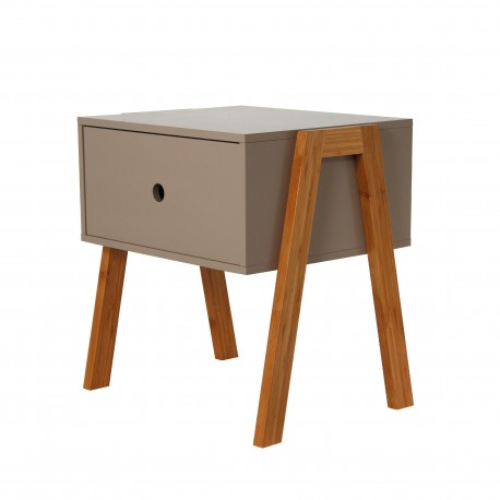 Chevet VICO empilable - Taupe
