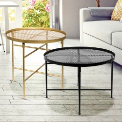 Duo de tables GLAMSTEEL - Noir & Or