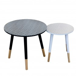 Duo de tables AZA - Losange Black & White
