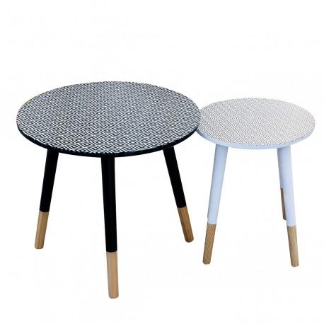 Duo de tables AZA - Losange Black & White