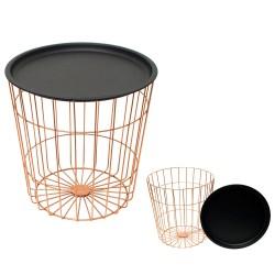 Table d'appoint JUNE - Acier noir & cuivre