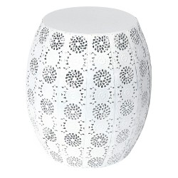 Tabouret / Table d'appoint MAYA - Blanc