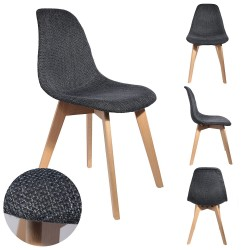 Chaise NORDA - Grosse maille Anthracite