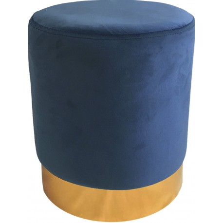 Tabouret YOANA - Velours Bleu Guède