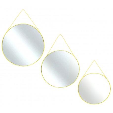 Trio de miroirs  Rondo - Gold
