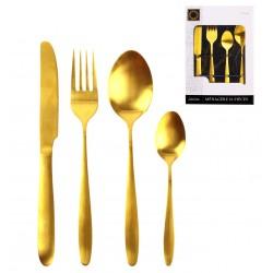 Ménagère 16 pièces en inox - Gold