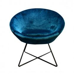 Fauteuil STUART - Bleu Canard - Black Edition