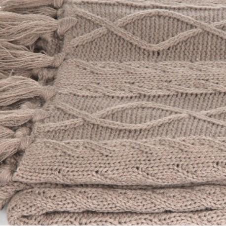 Plaid tricot MAM - Taupe