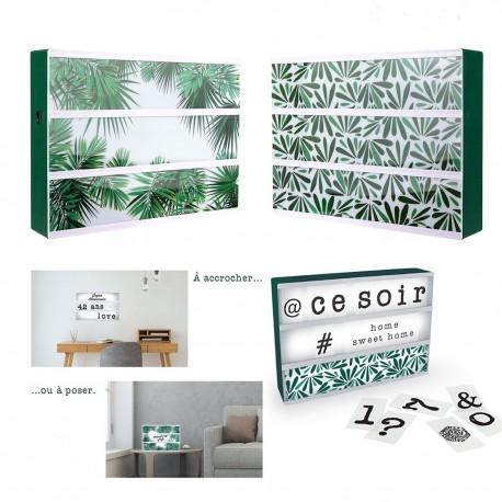 Boîte d'affichage lumineuse 30x21 cm - Green passion
