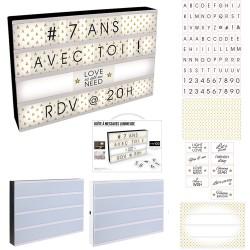 Boîte d'affichage lumineuse 43x32 cm - Noire ou Blanche