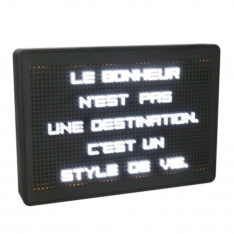 Tableau à messages lumineux  30 x 21 cm