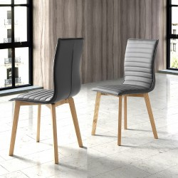 Chaise ORORA - Gris anthracite