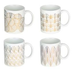 Mug White & Gold ART DECO - 3 motifs au choix