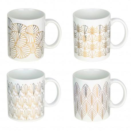 Mug White & Gold ART DECO - 4 motifs au choix