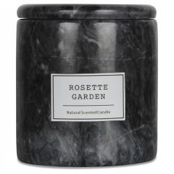 BOUGIE ARTISANALE - Marbre noir impérial - Jardin des Roses 200g