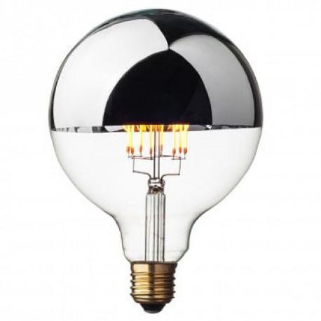 Ampoule décorative Edison GLOBE Géante - Argentée