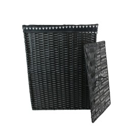 Panier BLACKO - M - Résine tressée noire