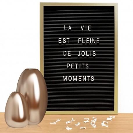 Tableau d'affichage MESSENGER - 30x45cm - FINITION AU CHOIX - 150 Lettres