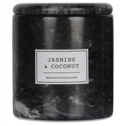 BOUGIE ARTISANALE - Marbre noir impérial - Jasmin & Coco 200g