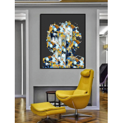 """Toile """"ABSTRACT SHAPE"""" by KUNST"""