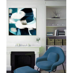 """Toile """"BLUE VIBES"""" by KUNST"""