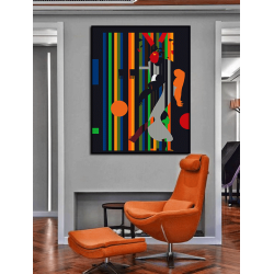 """Toile """"ECLECTIC WALK"""" by KUNST"""