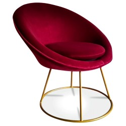 Fauteuil STUART - Round - Red Cherry