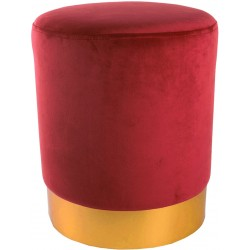 Tabouret YOANA - Velours Red Chili