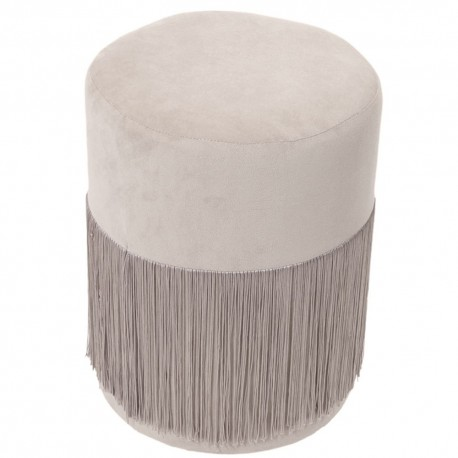 Tabouret PAMPI - Velours Taupe