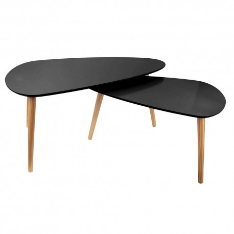 Duo de tables GALET - All Black