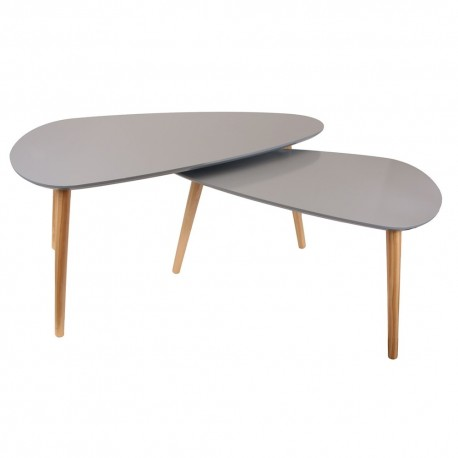 Duo de tables GALET - Gris