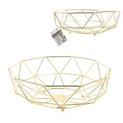 Corbeille géométrique CORBY - Gold