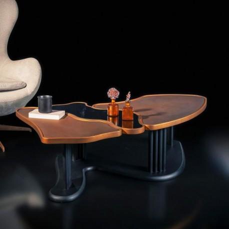 Table basse SARAJEVO - Finition Cuivré & Black