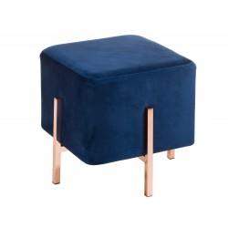 Grand Tabouret YO - Rose Gold & Velvet blue