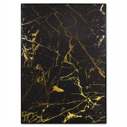 "Toile ""BLACK & GOLD"" luxury - 140x100cm"