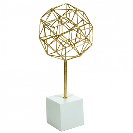 Sculpture CONNECT - White & Gold