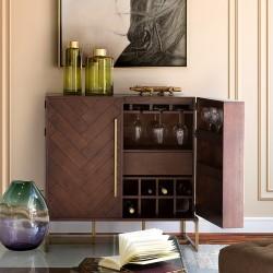 Buffet haut / Bar MONROVIA - Acacia & Laiton vintage