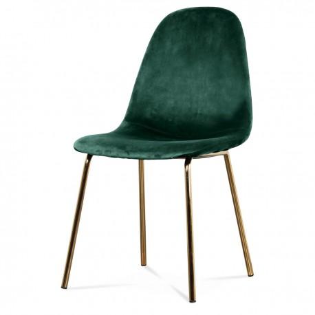 Chaise BAYA - Emerald & Gold