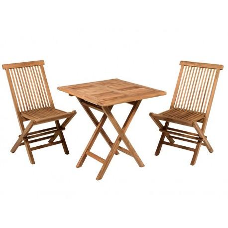 Ensemble 3 pièces outdoor CALABRA (1 + 1 + table à manger)