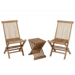 Ensemble 3 pièces outdoor PALERMA (1 + 1 + table à manger)