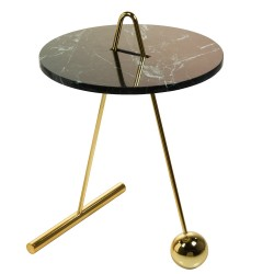 Table d'appoint BOUNCE- Mabre Guatemala Verde & Laiton