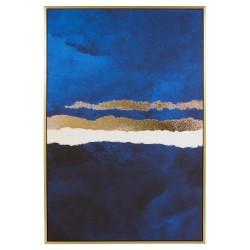 """Toile """"LAGOON""""  - Blue & Gold - 90x60cm"""