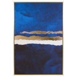 "Toile ""LAGOON""  - Blue & Gold - 90x60cm"